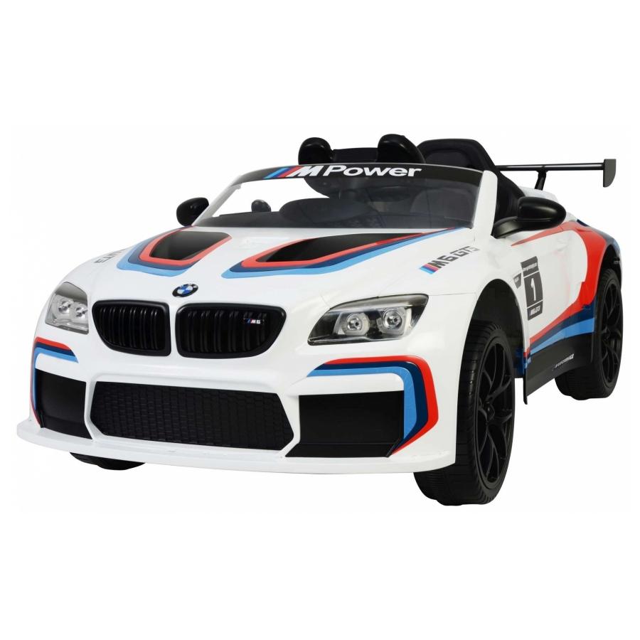 Elektrische auto BMW M6 GT3 wit