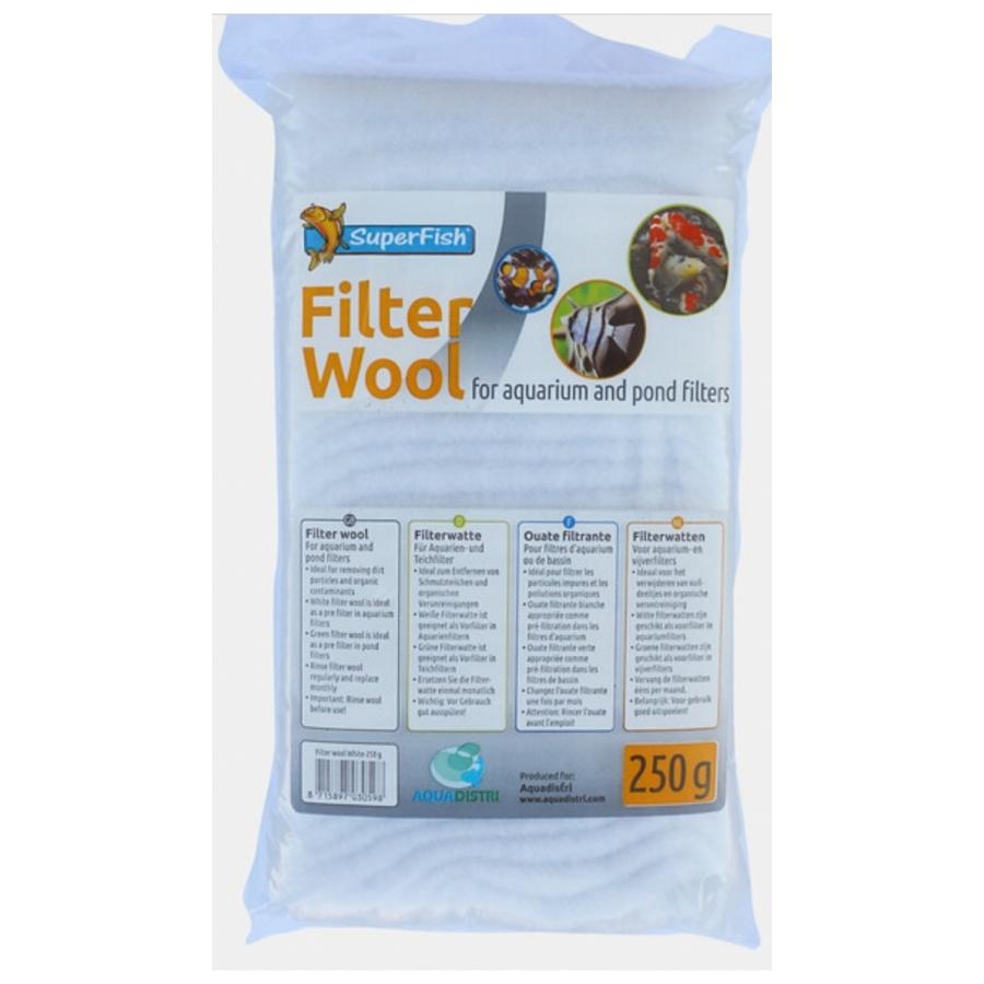 SuperFish Witte filterwatten 250 g fijn