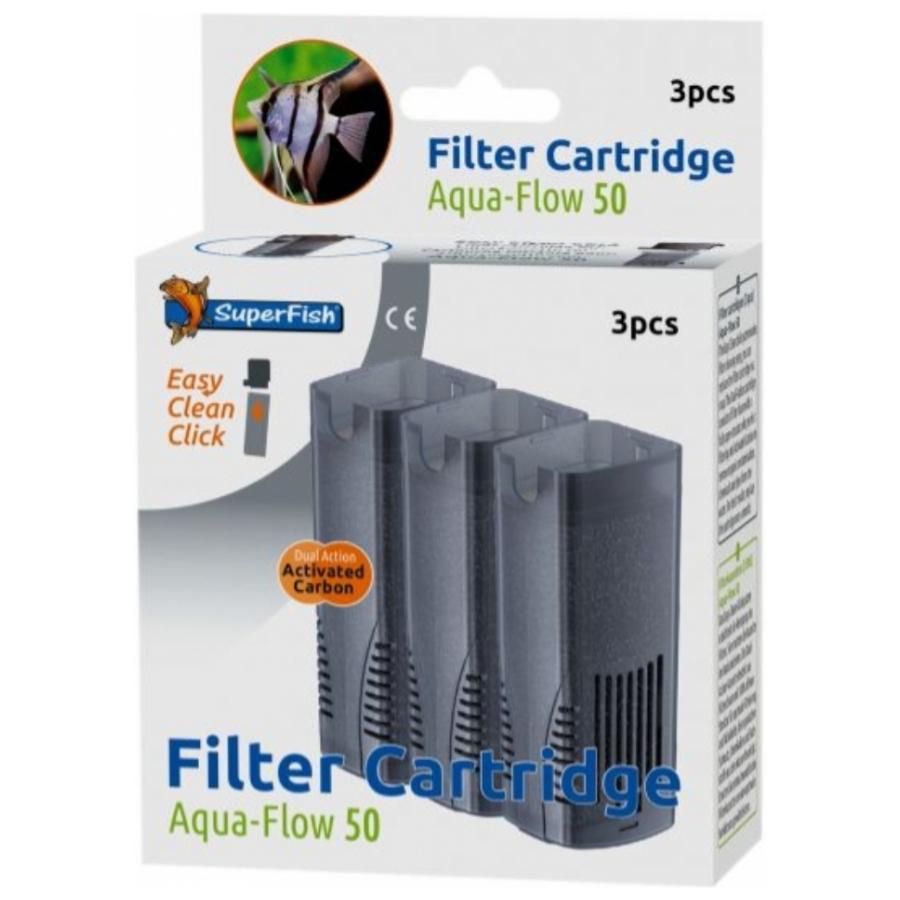 Superfish aqua-flow 50 cartridge 3 stuks