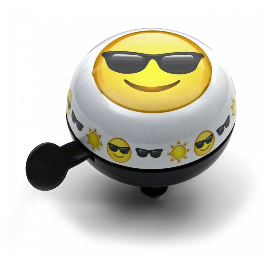 Widek Ding Dong Emoticon Sunglasses 60mm wit/zwart