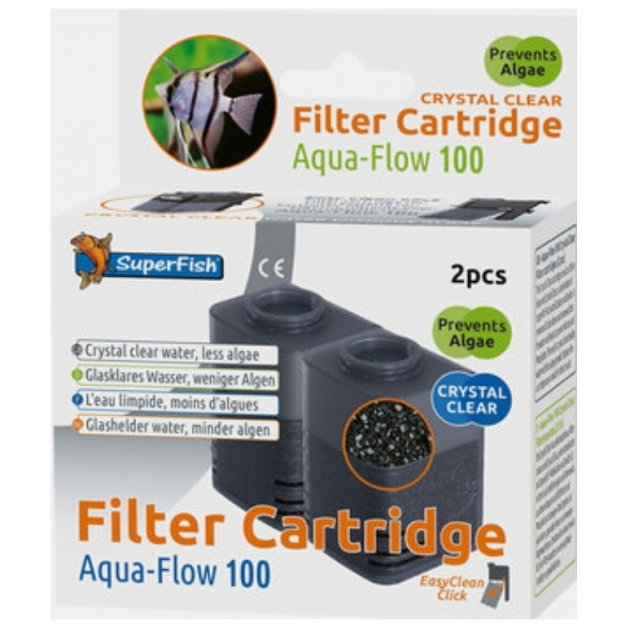 Superfish aqua-flow 100 cartridge 2 stuks